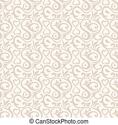 Damask floral wallpaper