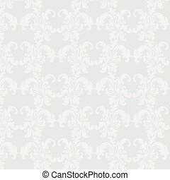 Damask luxury floral ornament pattern