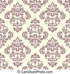 Damask Pattern - Seamless Damask Pattern. Colors are easily...
