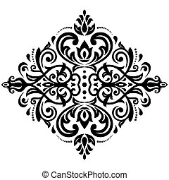 Damask Pattern. Orient Background - Damask floral light...