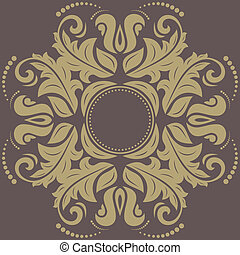 Damask Pattern. Orient Background - Damask floral pattern...