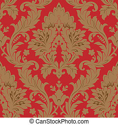 Seamless damask pattern vector illustration element for design