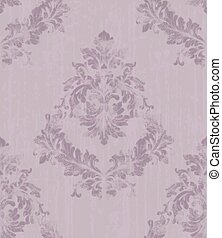 Damask pattern texture in lavender color Vector. Royal ...