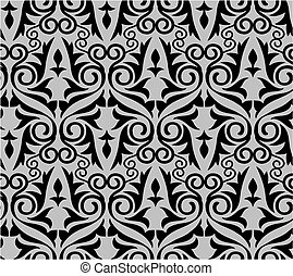 damask pattern with background