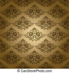 damask seamless floral pattern - Damask seamless floral...