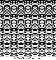 Damask seamless floral wallpaper