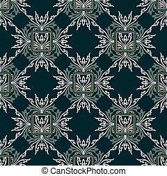 Damask seamless floral wallpaper