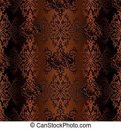 Damask seamless ornament pattern