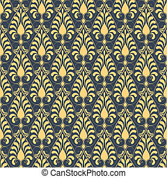 Damask seamless pattern background - Vector damask seamless...