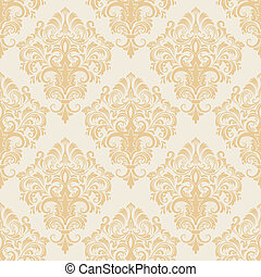 Damask seamless pattern background - Vector damask seamless...