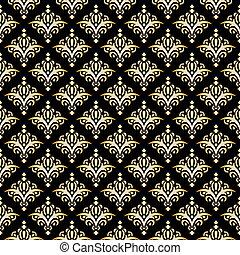 Damask Seamless Pattern, Texture. Elegant Luxury Background. Vector Illustration