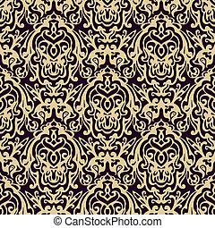 Damask seamless vector pattern luxury