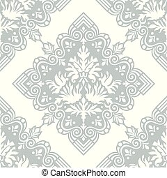 Damask seamless vector wallpaper