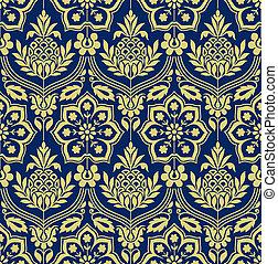 Damask seamless victorian wallpaper design