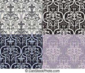 Damask seamless wallpaper