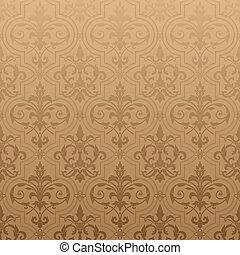 Damask seamless wallpaper - Seamless wallpaper background....