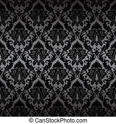 Damask seamless wallpaper - Seamless wallpaper background. ...