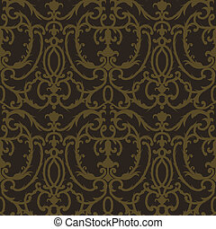 Damask thistle floral seamless pattern