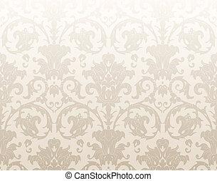 Damask traditional wallpaper
