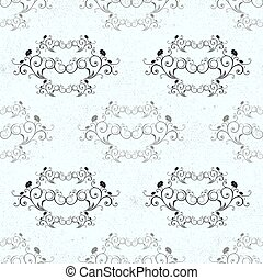 Damask vector classic black and white pattern. Seamless abstract background with repeating elements