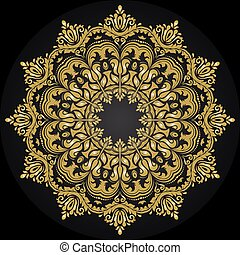 Damask Vector Pattern. Orient Ornament - Damask vector...