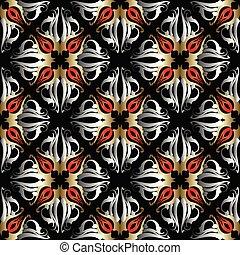 Damask vector seamless pattern.