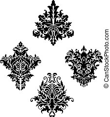 Damask vintage floral patterns