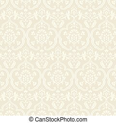 Damask Wallpaper Pattern - Seamless pattern swatch included ...