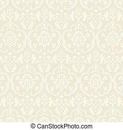 Damask Wallpaper Pattern - Seamless pattern swatch included...