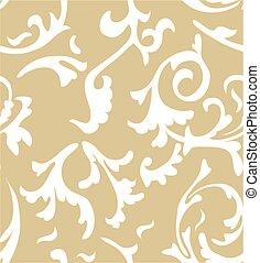 damassé, élégant, modèle, arrière-plans, seamless, texture, arrière-plan., vecteur, luxe, papiers peints, fill., page