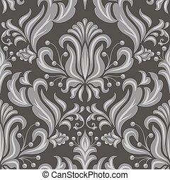 damassé, modèle, arrière-plans, seamless, texture, élégant, vecteur, luxe, papiers peints, fill., page, element.