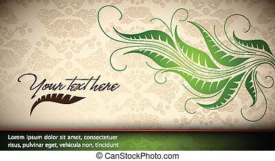 damassé, -, seamless, texture, élégant, vecteur, floral, carte