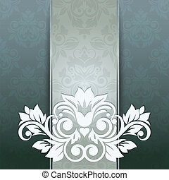 damassé, vendange, seamless, élégant, fond, carte, (background