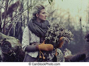dame, automne