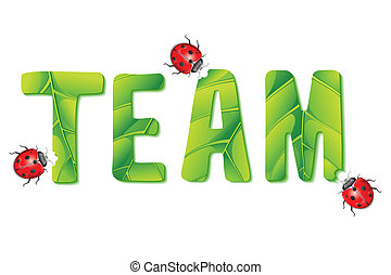 dame, eten, insect, team