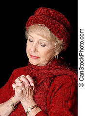dame, gewidmet, älter