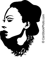 dame, graphisme, mode