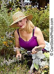 dame, jardin, fonctionnement