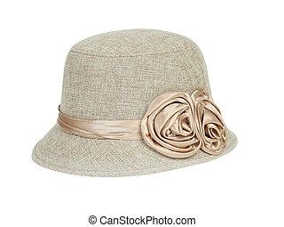 dame, mode, chapeau
