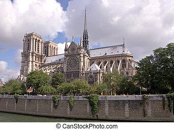 dame notre, parijs, kathedraal, frankrijk