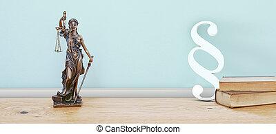 dame, statue, justice