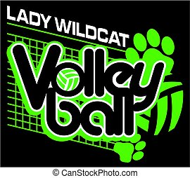dame, volley-ball, wildcat