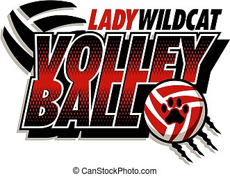 dame, wildcat, volley-ball
