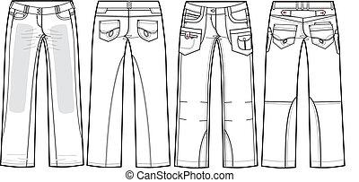 dames, jeans, boyfriend
