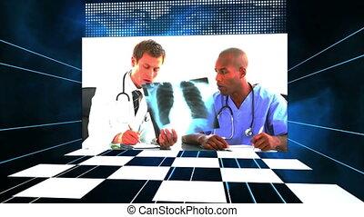 damier, vidéos, monde médical