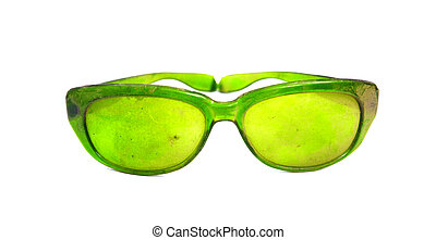 dammig, årgång, solglasögon