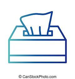 damp cloths box, gradient line style icon