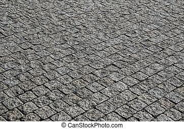 Damp cobble stone