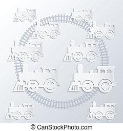 dampf, locomotives.