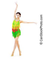 dança, americano, latim